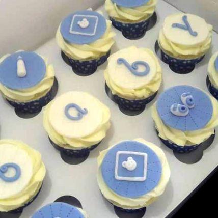 Boy Baby Shower Red Velvet Cupcakes