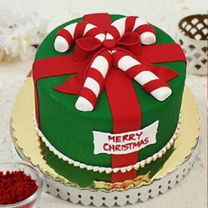 Merry Christmas Theme Cake 12 Portions Chocolate