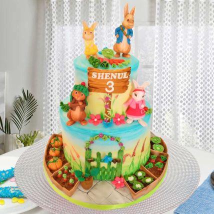 Peter Rabbit Theme Cake 16 Portions Chocolate