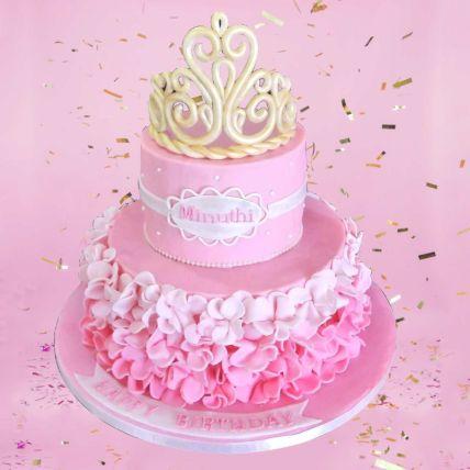 Princess Theme Cake 12 Portions Chocolate