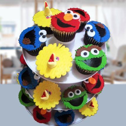 Sesame Street Vanilla Cupcakes