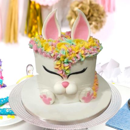 Unicorn Bunny Theme Cake 8 Portions Vanilla