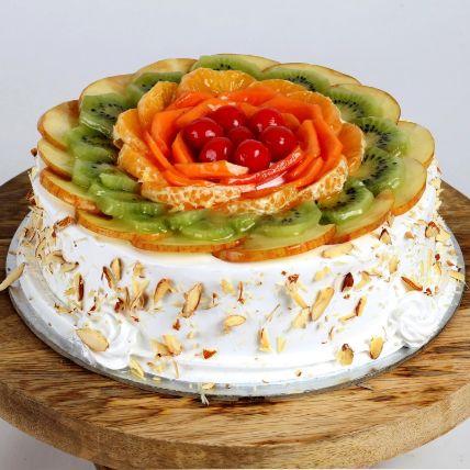 Creamy Vanilla Fruit Cake 1 Kg