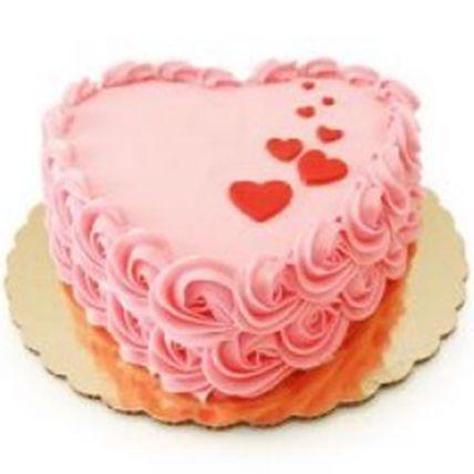 Delightful Heart Vanilla Cake 1 Kg