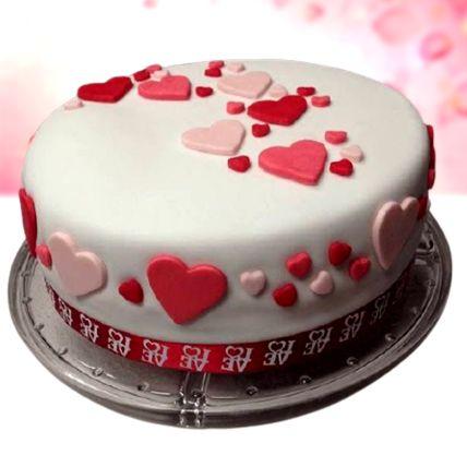 Pretty Love Red Velvet Fondant Cake Half Kg