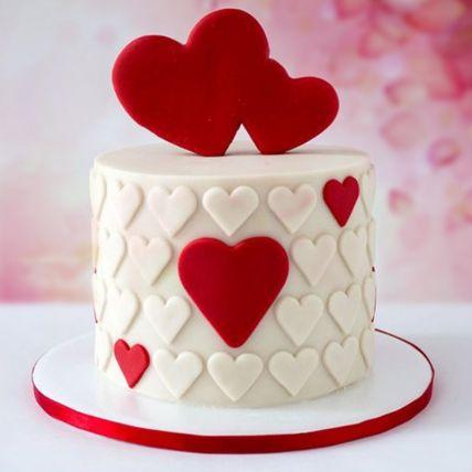 Valentine Hearts Chocolate Fondant Cake 2 Kg