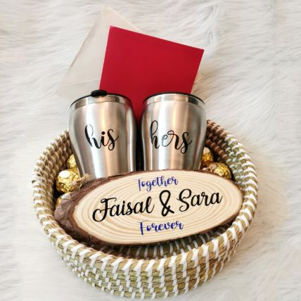 Personalised Couple Love Gift Basket
