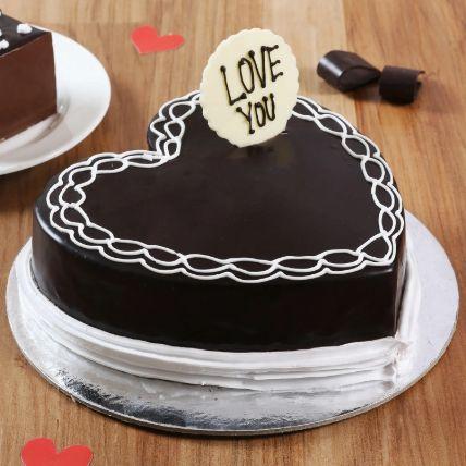 Classic Heart Shaped Chocolate Cake 1.5 Kg