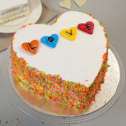 Colourful Love Cake 1.5 Kg