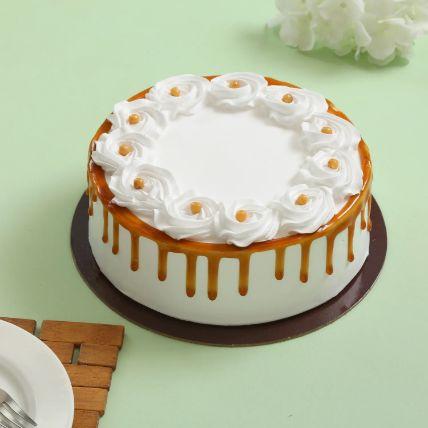 Crunchy Butterscotch Cream Cake 1.5 Kg