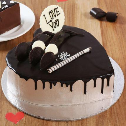 Heart Shaped Cream Chocolate Cake 1 Kg