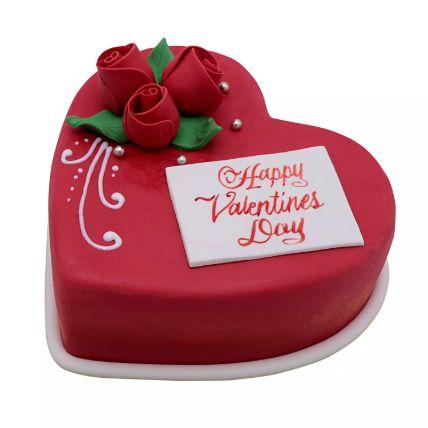 Heart Shaped Valentine Cake 1.5 Kg
