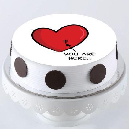 In My Heart Photo Cake 1 Kg
