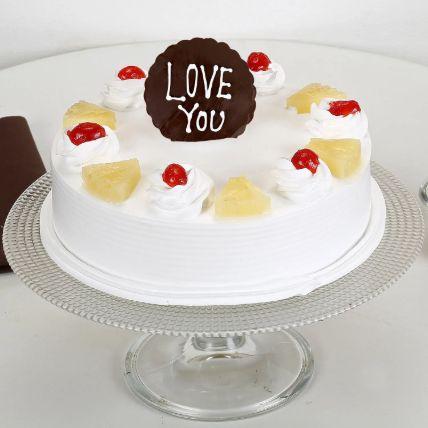 Love You Valentine Pineapple Cake 1 Kg