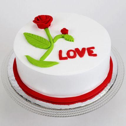 Red Rose Love Chocolate Cake 1 Kg