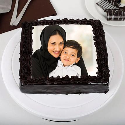 Rich Chocolate Photo Cake 1.5 Kg