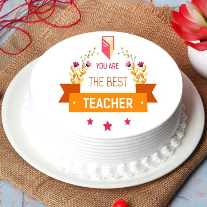 Best Teacher Chocolate Cake Half Kg