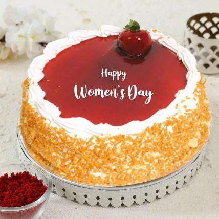 Strawberry Cake For Womens Day 1.5 Kg