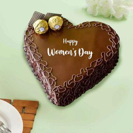 Womens Day Heart Shape Chocolate Cake 1 Kg