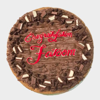 Congratulations Chocolate Chip Cookie Cake