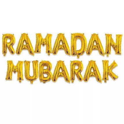 Ramadan Gold Balloon Set
