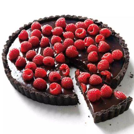 Belgian Chocolate and Raspberry Tart Half Kg