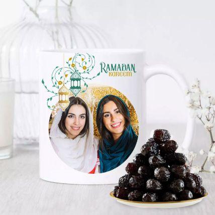 Ramadan Special Mug And Ajwa Dates Hamper 500 Gms