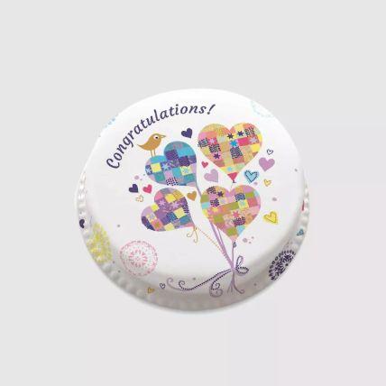 Hearty Congratulations Cake 2 Kg