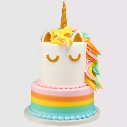 2 Tier Unicorn Vanilla Cake 2 Kg