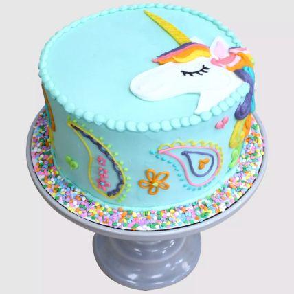 Colourful Unicorn Red Velvet Cake 1.5 Kg