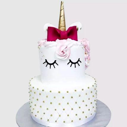 Elegant Unicorn Layered Chocolate Cake 3 Kg