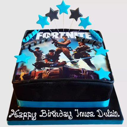 Fortnite Battle Fondant Vanilla Cake 1.5 Kg
