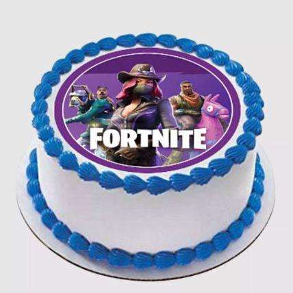 Fortnite Round Vanilla Cake 2 Kg