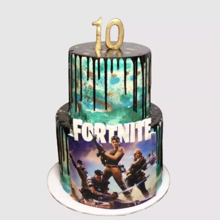 Fortnite Theme Cake Red Velvet Cake 3 Kg