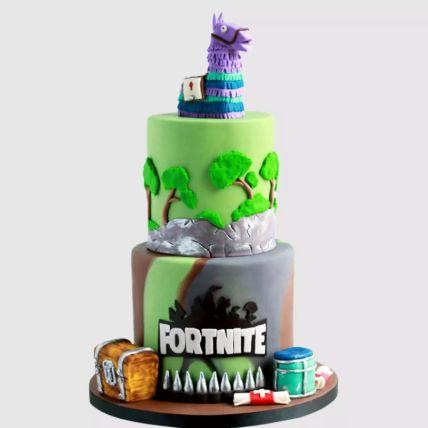 Fortnite Treasure Chest Vanilla Cake 2 Kg