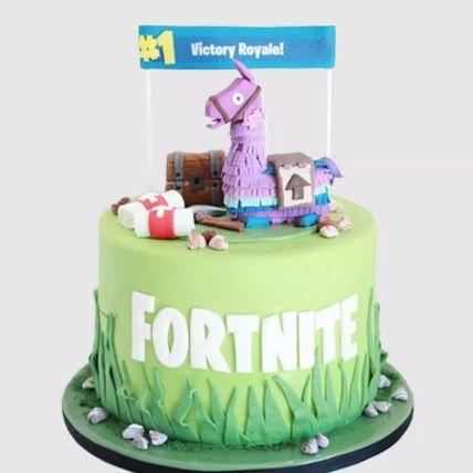 Fortnite Unicorn Floaties Vanilla Cake 3 Kg