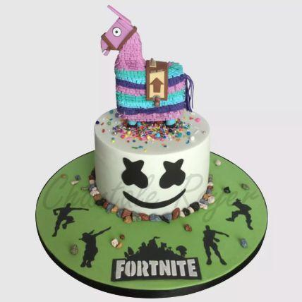 Fortnite Unircorn Fondant Red Velvet Cake 3 Kg
