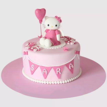 Hello Kitty Birthday Party Red Velvet Cake 1.5 Kg