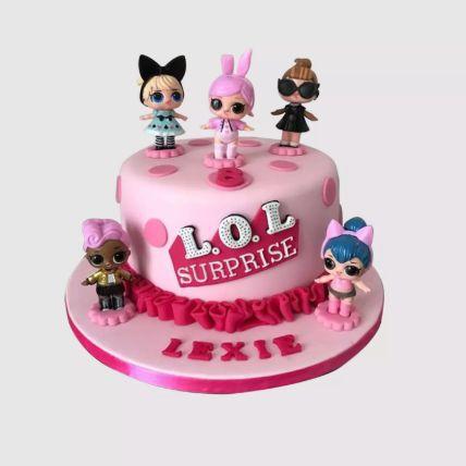 Lol Surprise Dolls Chocolate Cake 1.5 Kg