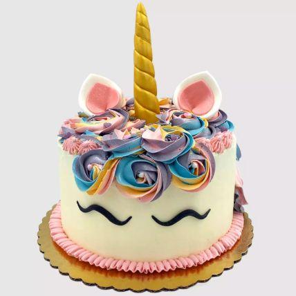 Pretty Unicorn Red Velvet Cake 1.5 Kg