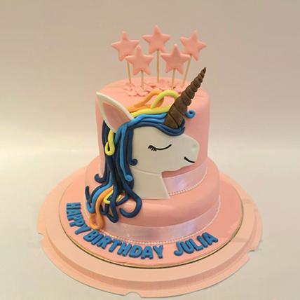 Starry Unicorn Red Velvet Cake 2 Kg