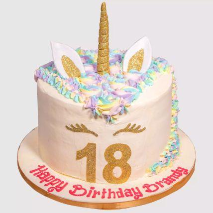 Unicorn Fondant Red Velvet Cake 1.5 Kg