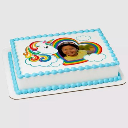 Unicorn Special Photo Red Velvet Cake 1 Kg