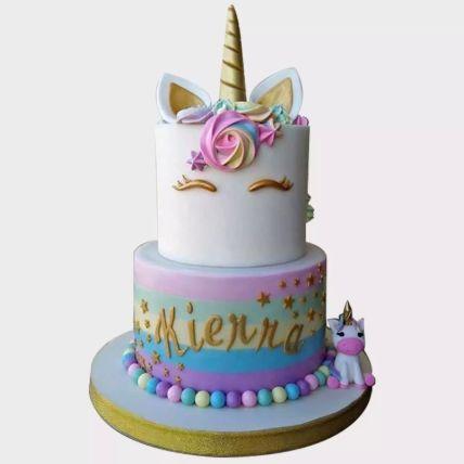 Unicorn Themed Red Velvet Cake 1.5 Kg