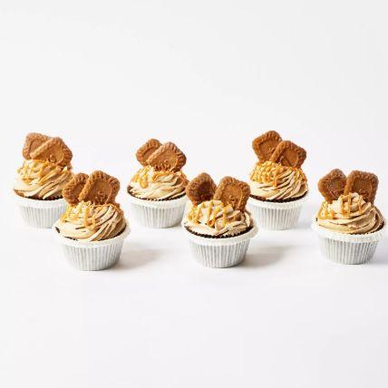 Lotus Biscoff Cup Cakes 6 Pcs