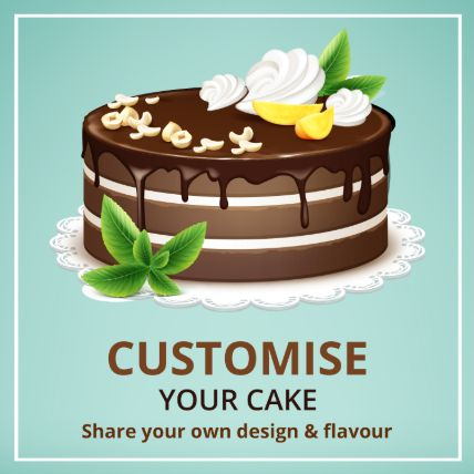 Customized Cake Vanilla 2 Kg