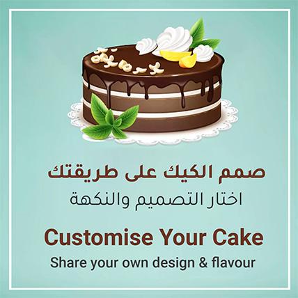 Customized Cake Red Velvet 1.5 Kg
