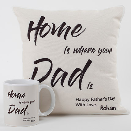 Dad Is Home Cushion And Mug Combo