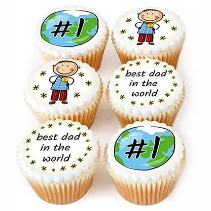 Best Dad In The World Cupcakes
