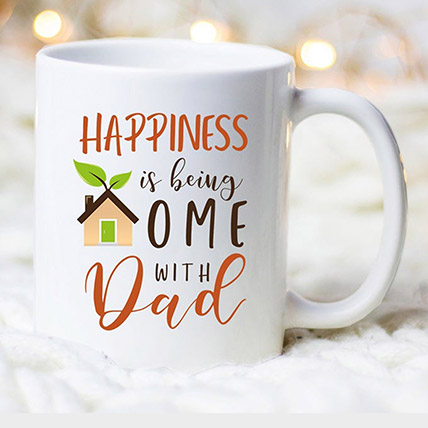 White Mug For Fathers Day